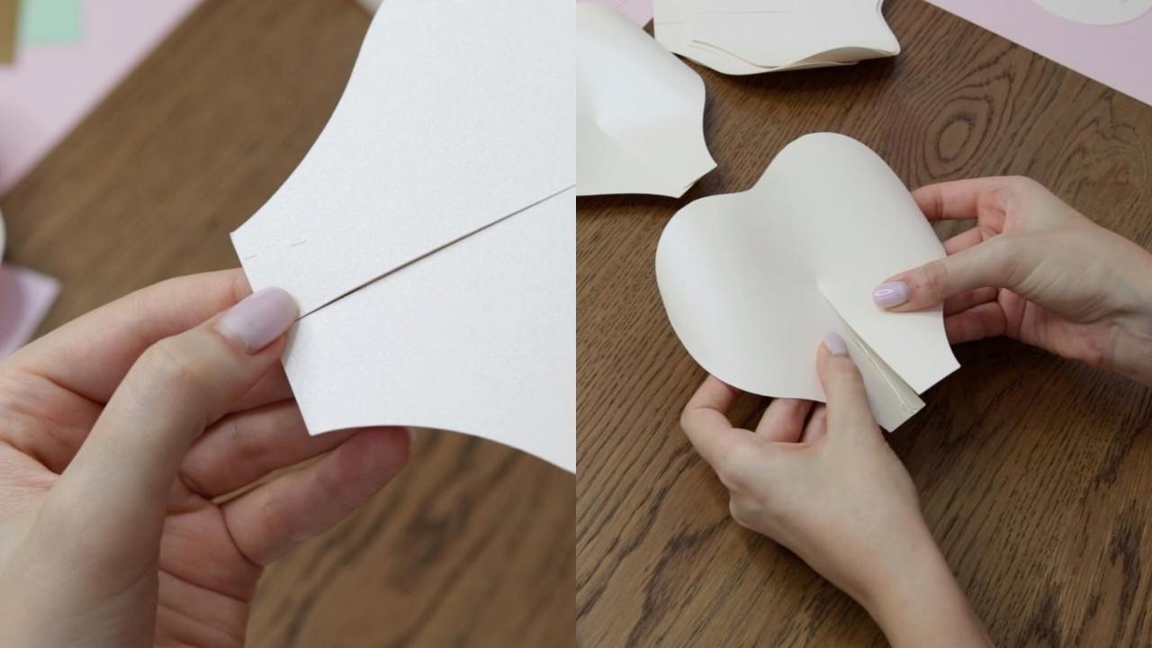 Preparing paper flower petals