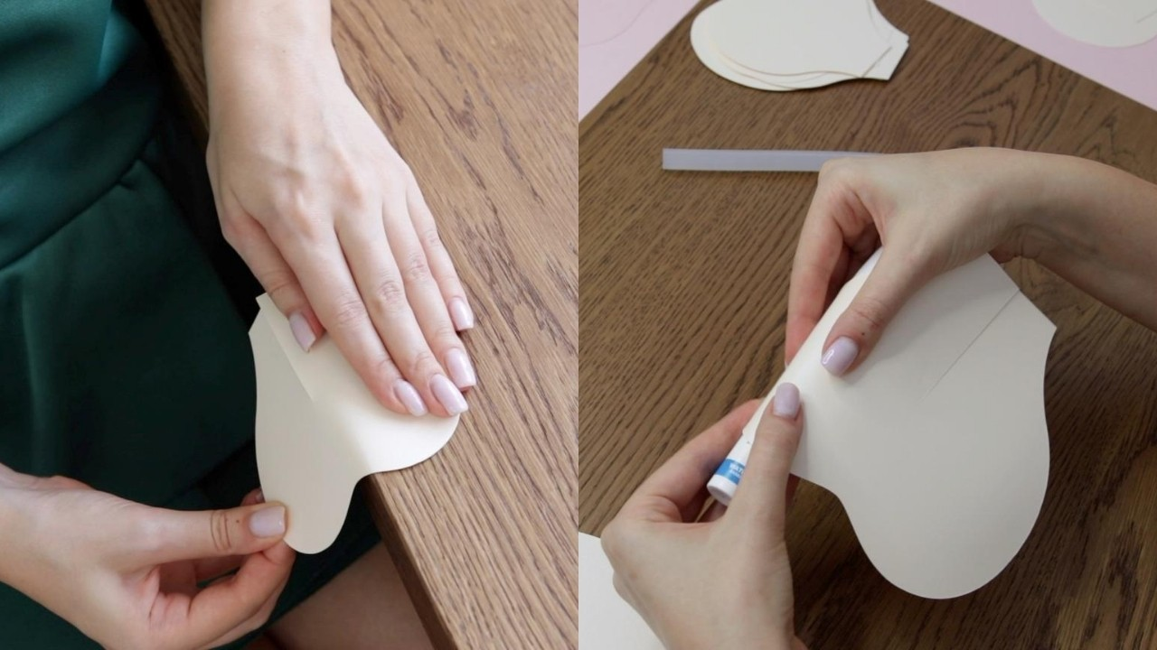 Curling petals for paper flower